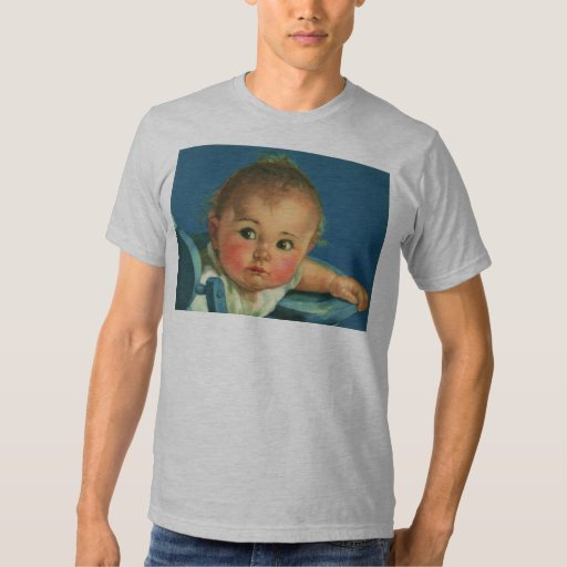 Vintage Child, Cute Baby Boy or Girl in Highchair T-Shirt