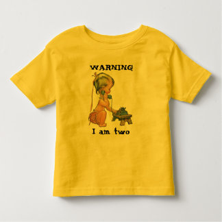 Vintage Child Cute Blond Girl Talking on Toy Phone Toddler T-shirt