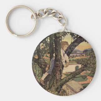 Vintage Child, Foreign Land, Jessie Willcox Smith Key Chain