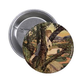 Vintage Child, Foreign Land, Jessie Willcox Smith Pinback Button