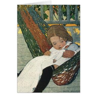 Vintage Child Hammock Doll; Jessie Willcox Smith Cards