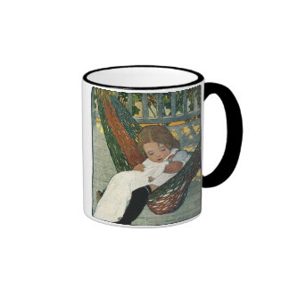 Vintage Child Hammock Doll; Jessie Willcox Smith Ringer Mug