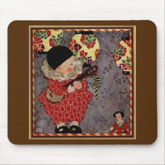 Vintage Child Harlequin, Playing Music on a Banjo Mouse Pad