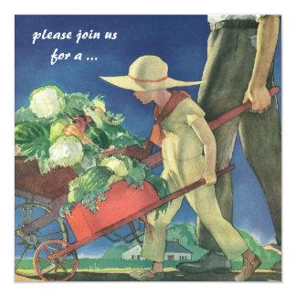 Vintage Child, Organic Gardening Cooking Party Card