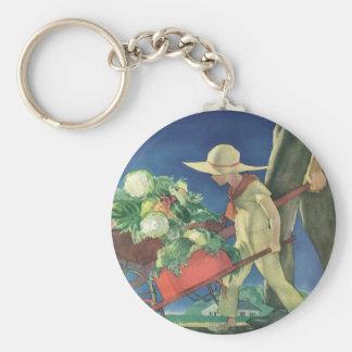 Vintage Child, Organic Gardening; Victory Garden Keychain