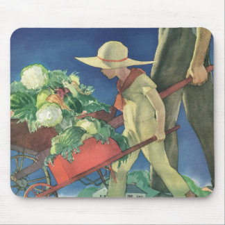 Vintage Child, Organic Gardening; Victory Garden Mouse Pad