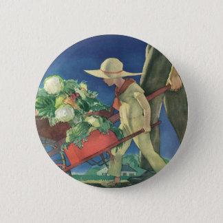 Vintage Child, Organic Gardening; Victory Garden Pinback Button