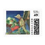 Vintage Child, Organic Gardening; Victory Garden Postage Stamp