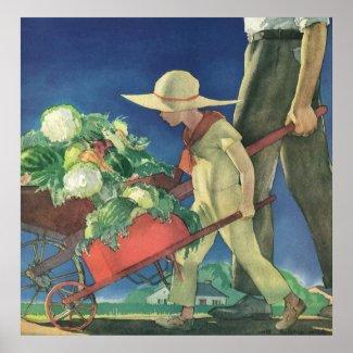 Vintage Child, Organic Gardening; Victory Garden Posters