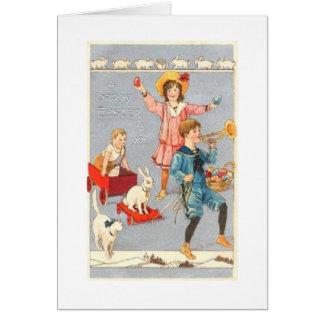Vintage Child Parade Easter Card