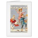 Vintage Child Parade Easter Card Greeting Card