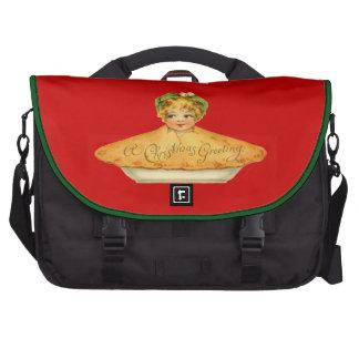 Vintage Child & Pie Laptop Commuter Bag