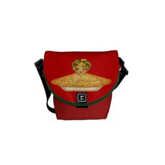Vintage Child & Pie Messenger Bag