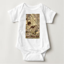 Vintage Child Reading a Book, Jessie Willcox Smith Baby Bodysuit