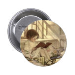 Vintage Child Reading a Book, Jessie Willcox Smith Pin