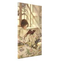Vintage Child Reading a Book, Jessie Willcox Smith Canvas Print