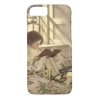 Vintage Child Reading a Book, Jessie Willcox Smith iPhone 8/7 Case