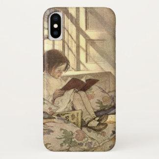 Vintage Child Reading a Book, Jessie Willcox Smith iPhone X Case