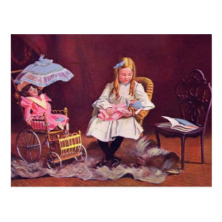 Vintage Child Role Playing Postcard