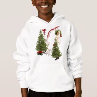 Vintage Child & Westie Wishes For Merry Christmas Hoodie