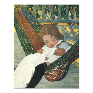 Vintage Child with a Doll by Jessie Willcox Smith Card