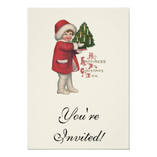 Vintage Child with Christmas Tree Card