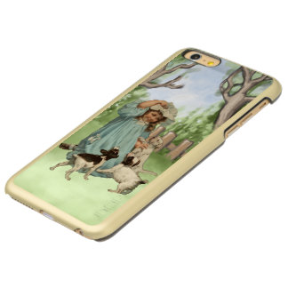 Vintage Child with Terrier Dogs Incipio Feather® Shine iPhone 6 Plus Case