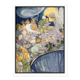 Vintage Children and Fairy by Ruth Mary Hallock Postcard