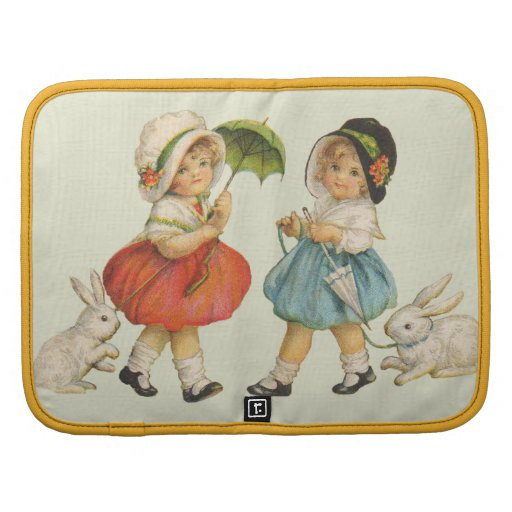 Vintage Children and Rabbits Folio Planners