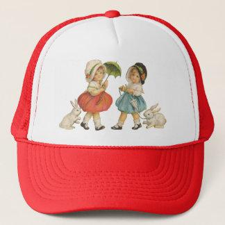 Vintage Children and Rabbits Trucker Hat