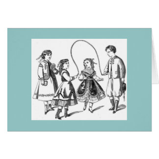 Vintage Children at Play Card
