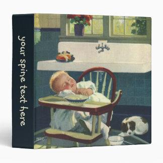 Vintage Children, Baby Sleeping Highchair Kitchen Binders
