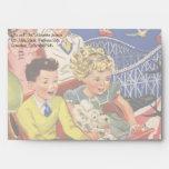 Vintage Children Balloons Dog Roller Coaster Ride Envelope