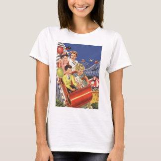 Vintage Children Balloons Dog Roller Coaster Ride T-Shirt