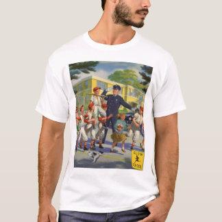 Vintage Children, Baseball Players Crossing Guard T-Shirt