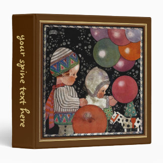 Vintage Children Birthday Party, Balloons and Toys Binder