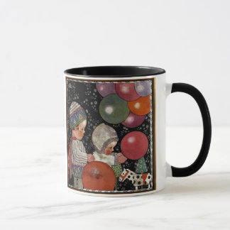 Vintage Children Birthday Party, Balloons and Toys Mug