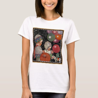 Vintage Children Birthday Party, Balloons and Toys T-Shirt
