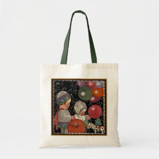 Vintage Children Birthday Party, Balloons and Toys Tote Bag