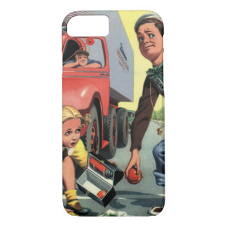 Vintage Children, Boy Safety Patrol Helping Girl iPhone 7 Case