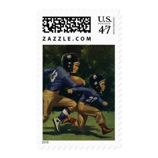 Vintage Children, Boys Playing Football, Sports Postage