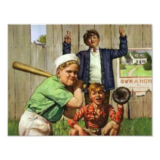Vintage Children Boys Sports Baseball Player Game Card