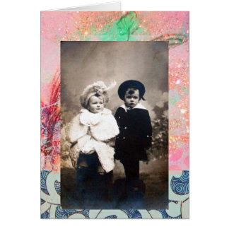 VINTAGE CHILDREN CARD