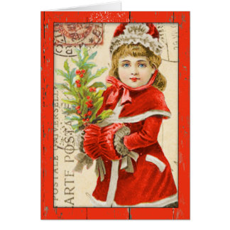 """Vintage Children Christmas Card"" Card"