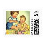 Vintage Children, Cute Happy Toddlers Smile Bottle Postage