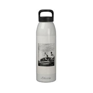Vintage Children Donkey Racing Personalized Animal Water Bottles