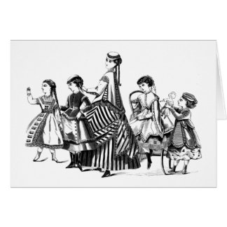 Vintage Children - Fashions of the Day Card