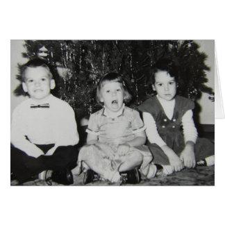 Vintage Children Funny Christmas Card