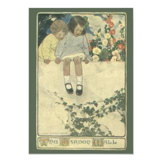 Vintage Children, Garden Wall Jessie Willcox Smith Card
