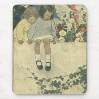 Vintage Children, Garden Wall Jessie Willcox Smith Mouse Pad